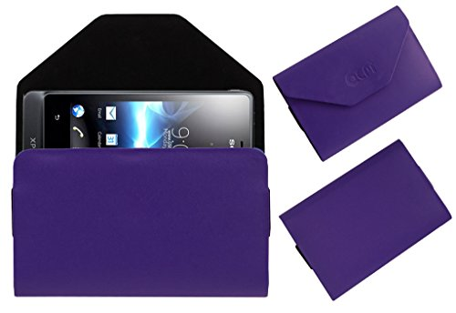 Acm Premium Pouch Case For Sony Ericsson Xperia Go St27i Flip Flap Cover Holder Purple  available at amazon for Rs.179