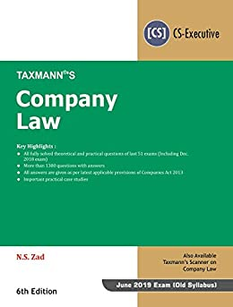 Descarga gratuita Company Law (CS-Executive) June 2019 Exam-As per Old syllabus) (6th Edition January 2019) Epub