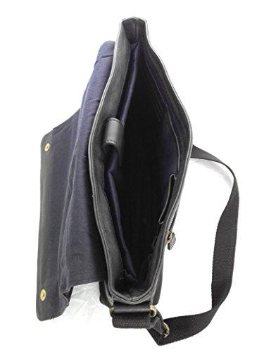 Zerimar. Sac porte-documents en cuir de haute qualité. Compartiments multiples. Mesure: 30X39X9 cms. Noir