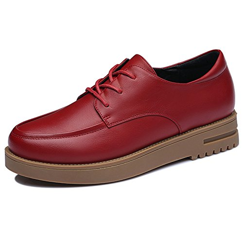 yasilaiya-stylish-womens-artificial-leather-round-mouth-oxfords