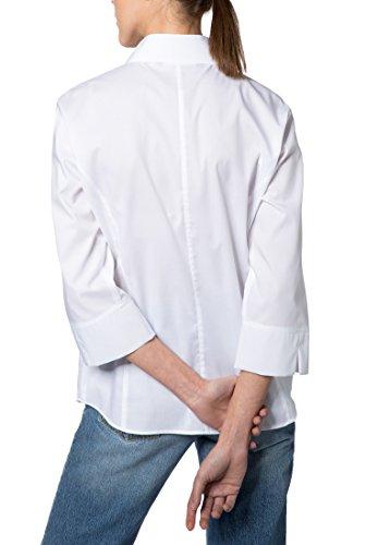 Eterna Chemisier à Manches 3/4 Modern Classic Stretch Uni Blanc
