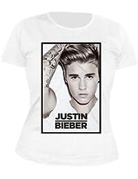 JUSTIN BIEBER - Black Framed - GIRLIE - Shirt