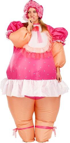 Playtastic Ganzkörper-Kostüm: Selbstaufblasendes Kostüm Riesenbaby (Unisex-Ganzkörperanzug-Kostüme)