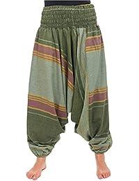 - Pantalon sarouel vert sari brilliant du nepal alladin indien -
