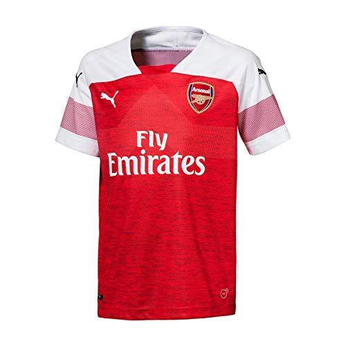 Puma Kinder Arsenal FC Home Shirt Replica Ss Kids mit EPL Sponsor Logo Trikot, rot (Chili Pepper Heather-White-Chili Pepper), 140