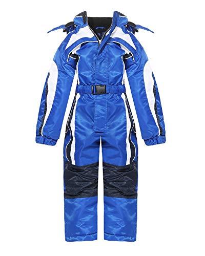 PM Kinder Outdoor Skianzug Snowboard für Jungen oder Mädchen Funktionsanzug Hardshell Schneeanzug LB1127 Winter (Blau, 134)