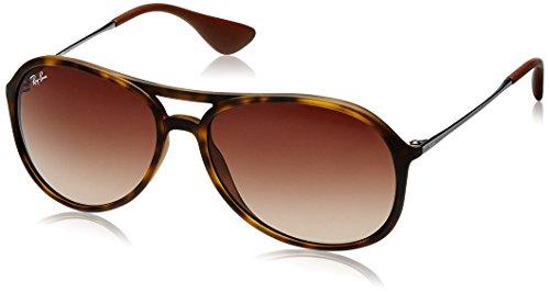Ray Ban Unisex Sonnenbrille Alex, Mehrfarbig (Gestell: Havana/Gunmetal, Gläser: Braun Verlauf 865/13), Large (Herstellergröße: 59)