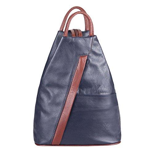 OBC Only-Beautiful-Couture, Borsa a zainetto donna Argento argento/nero ca. 25x30x11 cm (BxHxT) Dunkelblau-Braun