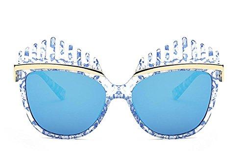 GZD The New Lady Lunettes de soleil Trendy Couleur UV Blue