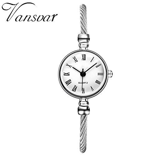 TianWlio Armbanduhren Damen Beiläufige Quarz Edelstahlband Armband Uhr Analoge Armbanduhr