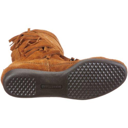 Minnetonka 1222 Calf Hi Fringe Boot, Damen Stiefel Braun (Brown)