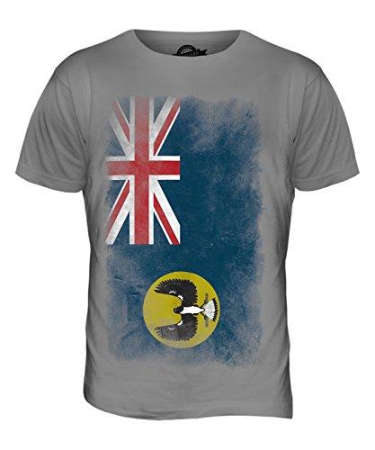 CandyMix South Australia Verblichen Flagge Herren T Shirt Hellgrau