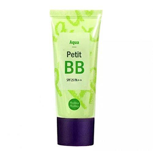 Holika Holika - BB Cream SPF25 PA++ - Petit BB Creme Aqua mit Grünem Tee, Gletscherwasser und Sonnenschutz für ein makellosen Hautbild für Frauen - BB & CC Cremes - Tagespflege gegen Rötungen