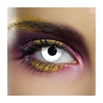Paio di lenti a contatto colorate BIANCHE lenti a contatto unisex bianco finte senza diottrie in soluzione salina wildcat durata 3 mesi lenti a contatto per carnevale e halloween o scherzo lenti a contatto decorative