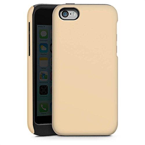Apple iPhone 4 Housse Étui Silicone Coque Protection Kaki Marron Clair Cas Tough brillant