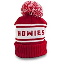 Howies Official Retro Beanie Hat Knitted Oversized Bobble Ski Hat Pom Pom Red