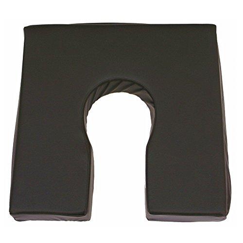 Cuscino antidecubito in viscoelastico | Cuscino a ferro di cavallo Premium | 42 x 42 x 7,5 cm