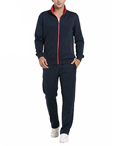 Romano Mens Athletic Full Zip Fleece Tracksuit Jogging Sweatsuit Sports Jacket & Pants
