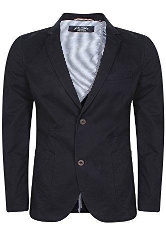 Herren Kensington Andris Anzug Jacke NEU DESIGNER zwei Knopf Baumwolle Freizeit Blazer - Navy, M (Klappe Blazer Mit Baumwoll-tasche)