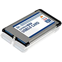 CSL - USB 3.0 Tarjeta PCMCIA Express Card Super Speed (34 mm) / 2 Puertos/Compatible con Windows 10 para Notebook y Laptop