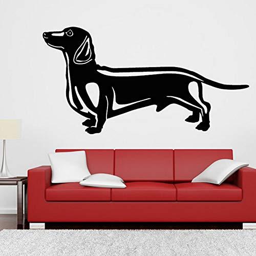 Moderne Hauptdekoration Clevere Wurst Hund Wandaufkleber Wohnzimmer Abnehmbare Vinyl Selbstklebende...