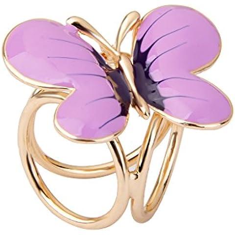 Clip Broche de Bufanda Forma Mariposa Joyería Regalo para Mujer Fiesta Boda -Púrpura