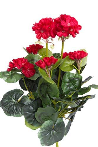 Nova-Nature künstlicher Geranienbusch mit 7 Stielen Farbe: rot