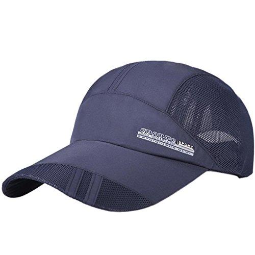Under Armour Uv-schutz (Kappen Unisex Mütze Snapback Cap Flat Brim Caps Hip Hop Baseball Cap UV-Schutz Schildmütze luftdurchlässig sportlich Baseballmütze Classic,für Herren und Damen (Marine ))