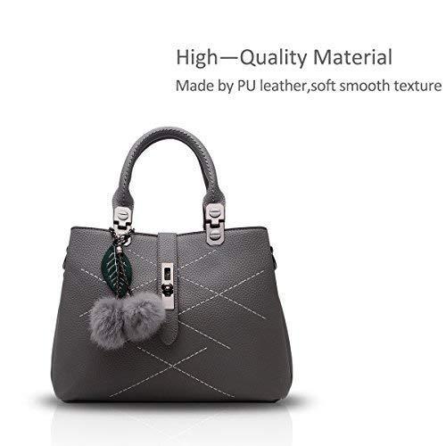 NICOLE & DORIS 2019 Welle Paket Kuriertasche Damen weiblichen Beutel Handtaschen für Frauen Handtasche(Grau)