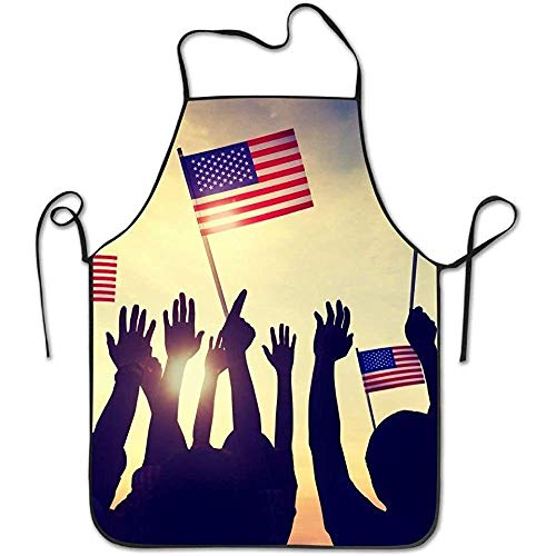 Server Aprons USA Independence Day Funny Cooking Apron for Men Women - BBQ Grill Kitchen Chef Barbecue Gifts, One Size Fits Most