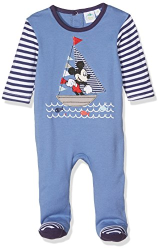 Disney, pagliaccetto a maniche lunghe con topolino per bambini blau 3 74 cm (12 mesi)