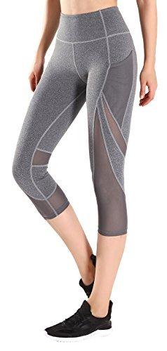 Motorun Yoga Pantalones Mujeres Deportes Fitness Gym Pilates Legging (Grey-XS)