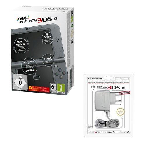 Metallic-unterstützung (New Nintendo 3DS XL metallic schwarz (TN Variant) + Nintendo 3DS / 3DS XL / DSi / DSi XL - Power Adapter)