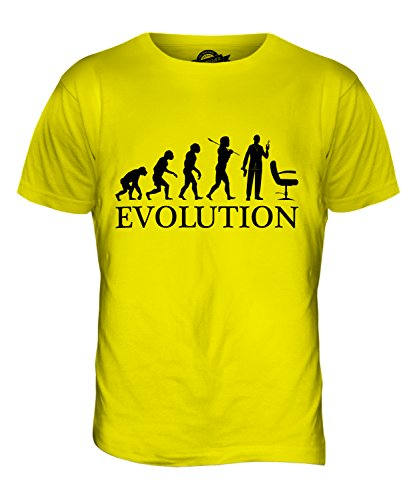 CandyMix Friseur Evolution Des Menschen Herren T Shirt Zitronengelb