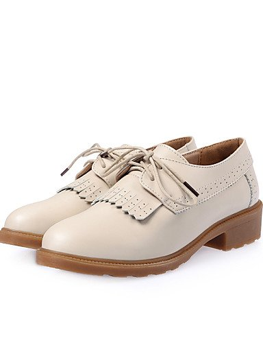 ZQ hug Scarpe Donna-Stringate-Casual-Comoda-Basso-Di pelle-Nero / Marrone / Beige , brown-us8.5 / eu39 / uk6.5 / cn40 , brown-us8.5 / eu39 / uk6.5 / cn40 beige-us6 / eu36 / uk4 / cn36
