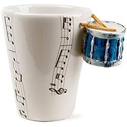 Tambor Taza de Café Hecho a Mano 8oz Azul (10cm x 8cm)