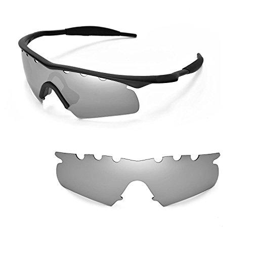 Walleva Entlüftete Ersatzgläser für Oakley M Frame Heater Sonnenbrille - Mehrfache Optionen (Titanium Mirror Coated - Polarisiert)