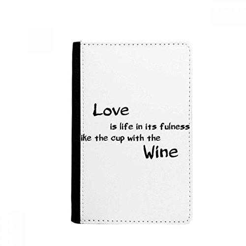 beatChong Famous Poetry Quote Love Like Wine-Pass-Halter Travel Wallet Abdeckungs-Fall Karten-Geldbeutel
