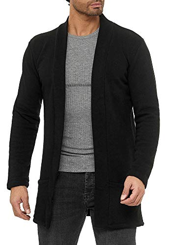 Red Bridge Herren Cardigan Jacke Sweat-Jacke Sakko Long Cut Schwarz M
