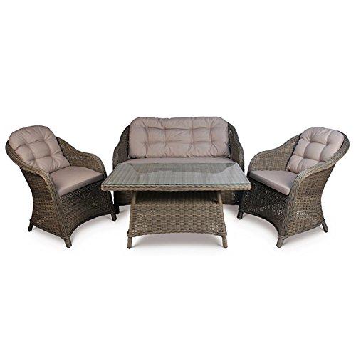 Florida Rattan. Florida Rattan Sofa Set 4 Seater Garden Furniture Set Including 2