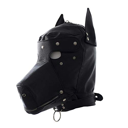 PU Leder Hund Maske BDSM Bondage Exotische Accessoires Fetisch Toys SM Hood Sex Slave Kragen Bondage Augenbinde Halloween-Kostüme