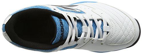 Diadora Unisex Adulti S.challenge Ag Scarpe Da Tennis Avorio (bianco / Nero / Blu Fluo)