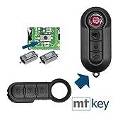 Auto Klapp Schlüssel Funk Fernbedienung Repair Reparatur Set 3 Tasten Tastenfeld + 2X Mikrotaster für FIAT Lancia