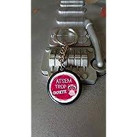 Porte clés 25 mm Atsem Trop Chouette
