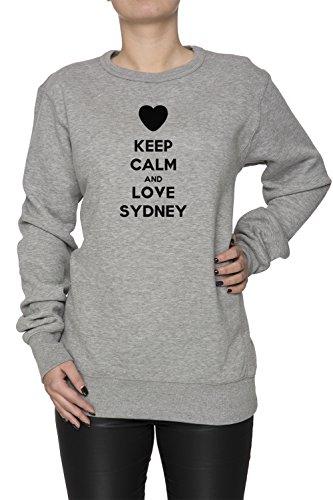 keep-calm-and-love-sydney-donna-felpa-maglione-pullover-grigio-cotone-womens-jumper-sweatshirt-pullo