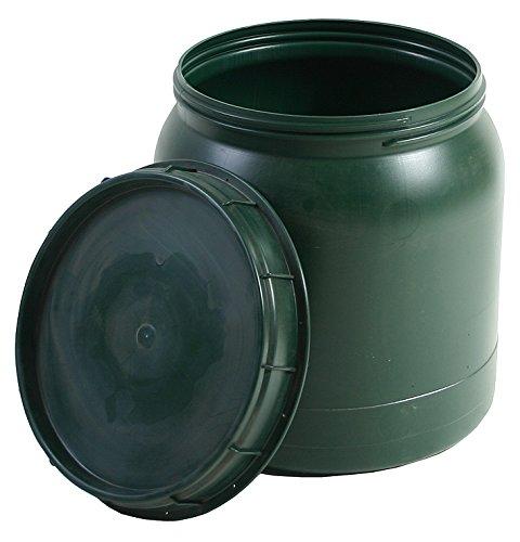 BAUPROFI Weithals-Fass grün 40 Liter mit Deckel Nässe-Schutz Transport-Faß Fische Camping