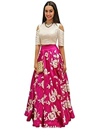 df84b04c965 Jk Life Style Women s Cotton Semi -Stitched Lehenga Cholis Material (Free  Size) Pink