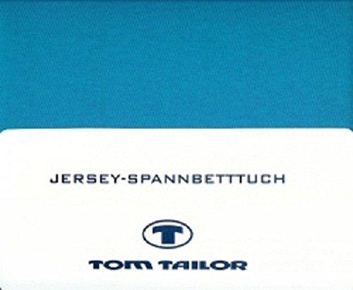 Tom Tailor Jersey - Spannbettlaken 100% gekämmte Baumwolle 100 x 200 cm, Farbe:Blue Bird;Größe:100 cm x 200 cm