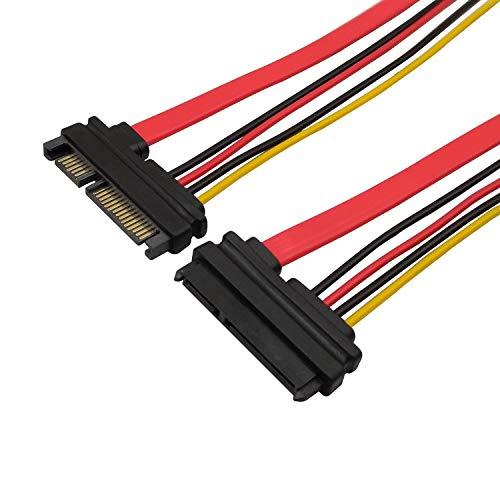 QiCheng&LYS 22pin (7 + 15) SATA Männlich Zu Weiblich Daten und Strom Combo Verlängerungskabel Verlängerung Kabel - Slimline SATA Verlängerungskabel - 30 cm -