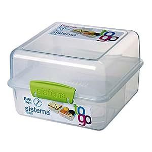 Sistema 25731 Lunch Cube To Go, 1,4 L, 3-fach, grün